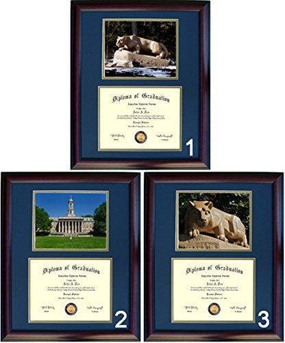 (Penn State Diploma Frame - Photo Option #1 - Walnut)