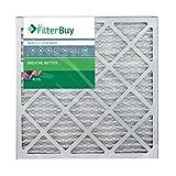 FilterBuy 20x20x1 MERV 13 Pleated AC Furnace Air Filter, (Pack of 4 Filters), 20x20x1 – Platinum