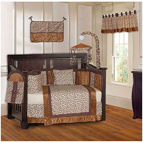 (BabyFad Leopard Print 10 Piece Baby Crib Bedding Set)