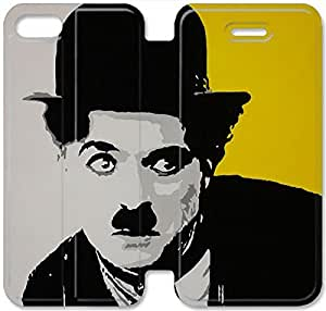 Personality Design Chaplin-2 iPhone 4 4S Leather Flip Case