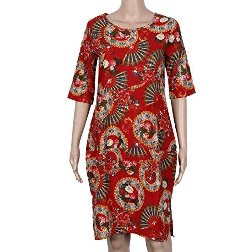WINWINTOM - Vestido - camisa - para mujer Rosso