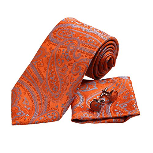 Orange Silk Boys Ties - 2