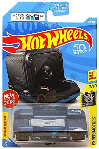 Hot Wheels 2018 50th Anniversary Experimotors Zoom In  242/365, Black (Hot Wheels Camera Car)