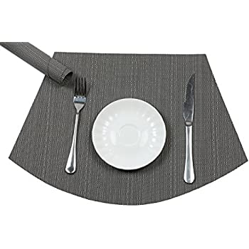 Merveilleux PAUWER Wedge Placemats For Round Tables Heat Insulation Stain Resistant  Washable Vinyl Round Table Placemats