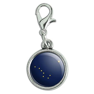 Charms & Charm Bracelets North Dakota State Flag Antiqued Bracelet Oval Charm With Lobster Clasp Fashion Jewelry