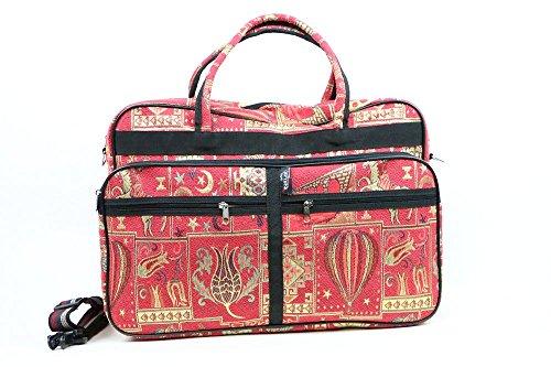Embroidered Handmade Woven Tapestry Travel Bag-Weekender Bag-Floral Weekend Bag-Oversize Travel (Oversized Large Woven Handbag Tote)