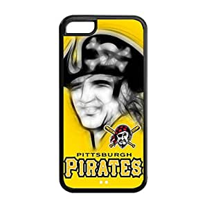 Fashionable Designed iPhone 5C TPU Case with Pittsburgh Pirates Background-by Allthingsbasketball