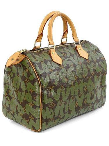 Louis Vuitton Handbag - Limited Edition Stephen Sprouse Khaki Graffiti  Speedy 30 MINT conditions  Handbags  Amazon.com 9a544552118de