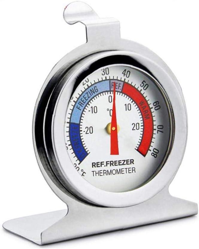 Yililay K/ühlschrank-Thermometer Profi Gefrierschrank Gro/ße Dial Thermometer Multi-Funktions-Freezer Thermometer Tragbare K/ühlschrank f/ür Heim