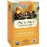 Numi Organic Tea White Orange Spice, Full Leaf White Tea, 16 Count Tea Bags