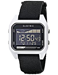 Electric Unisex EW0120020051 ED01 Tide Nato Band Digital Display Japanese Quartz White Watch