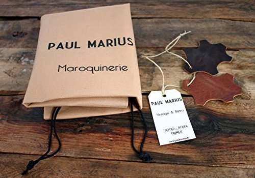LE CHARLIE Inchiostro Blu borsa in pelle stile vintage PAUL MARIUS
