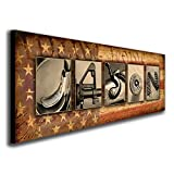 Personalized Firearm, Gun, or Shooting Name Alphabet Art. (Block Mount - 9.5 x 26)