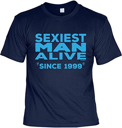 T-Shirt - Sexiest Man Alive - Since 1999 - lustiges Sprüche Shirt als Geschenk zum 18. Geburtstag