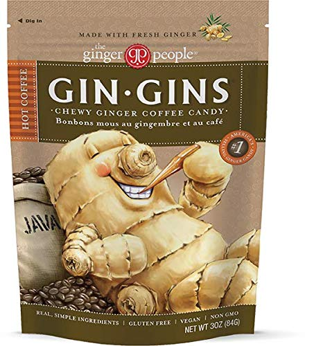 The Ginger People Gins Hot Coffee Chewy Candy, 3 Ounce (Pack of 12)