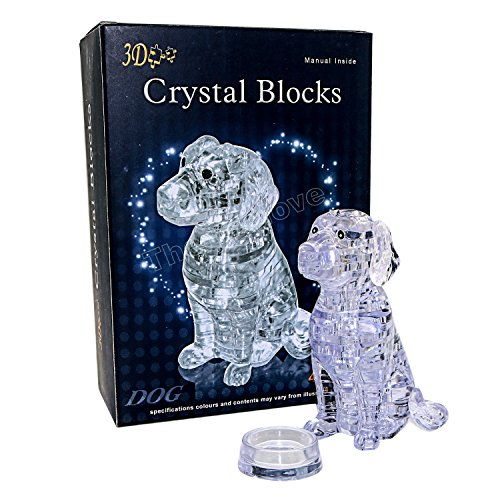 42 Thermolove 3D Decoration Model Toy Crystal Puzzle Game Toy Dog-Transparent (3d Dog Model)