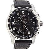 Victorinox Chrono Classic Grey Dial Leather Strap Men's Watch 241657