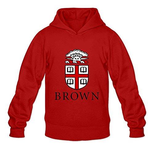Brown University VAVD Mens 100% Cotton Hoodies Red Size L