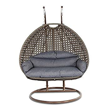 Strange Island Gale Luxury 2 Person Wicker Swing Chair 2 Person X Large Latte Rattan Charcoal Cushion Unemploymentrelief Wooden Chair Designs For Living Room Unemploymentrelieforg