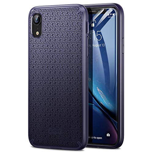 ESR Kikko Slim Case for iPhone XR, Flexible and Secure Grip Design Cover [Air-Guard Corners] [Easy Grip] for The iPhone XR, Blue