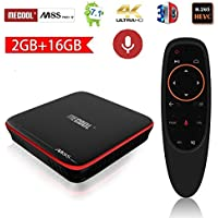 Mecool M8s Pro W Android TV Box 7.1 with Voice Control Remote 2GB RAM 16GB ROM Quad Cord 4K UHD VP9 HEVC Decoding Supported Set Top Box
