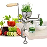 100% Stainless Steel Manual Wheatgrass Juicer Fruit Citrus Juice Extrator