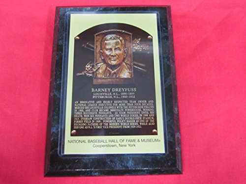 Barney Dreyfuss 2008 Hall Of Fame Induction Postcard Plaque New!!
