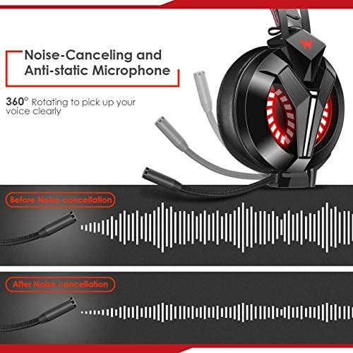 Combatwing Gaming Headset – PS4 Headset PC Headset Xbox One Headset with Noise Canceling Mic Gaming Headphones for PS4/Super Nintendo/Nintendo 64/Xbox One(Adapter Not Included) 51VTx ueXaL