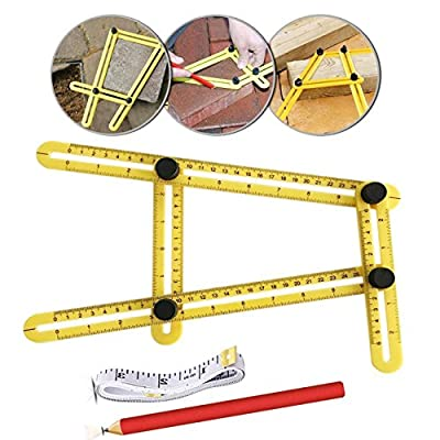 Angleizer Template Tool Multi-Angle Measuring Ruler Perfect for Handymen Builders Craftsmen