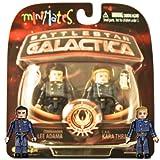 Battlestar Galactica Modern Minimates 2-Pack Series 3 CAG Kara Thrace & Commander Lee Adama by Diamond Select