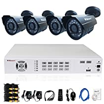 iSmart 8 Channel 960H HDMI DVR Kit including 4 800TVL Bullet Security Camera System with 24 Leds D5608WH+C1030DP8