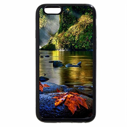 iPhone 6S Case, iPhone 6 Case (Black & White) - Punch Bowl Falls At Morning