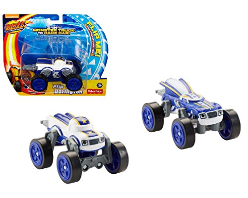 Blaze and the Monster Machines Flip & Race Darington Vehicle - Collectible 2-in-1 Transforming Darington Vehicle. Flip the Vehicle and Transform from Monster Truck to Race Car