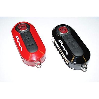 FIAT 500L Clé Housses fob- Lot de 2 Rouge et Noir véritable officielle P/N 50927024