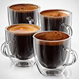 retro espresso cups - Espresso Cups or Shot Glass Set of 4 Expresso Double Walled Coffee Glasses 5 ounce Reto Boxed By Anchor & Mill AM 04