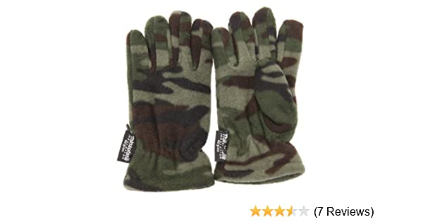 3M 40g Childrens Little Boys Camouflage Thermal Winter Gloves