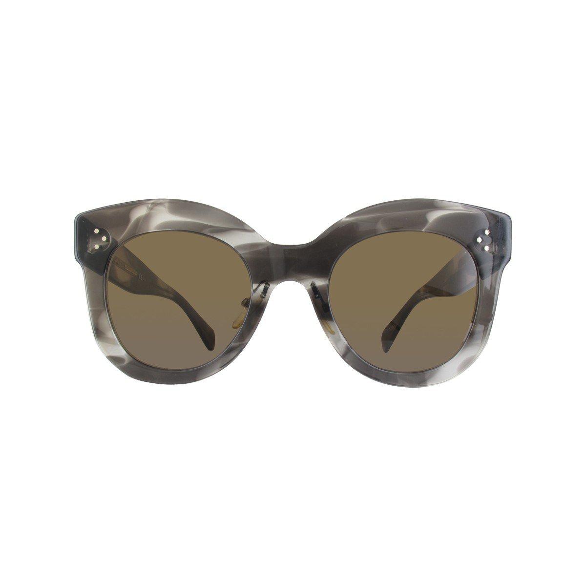 185914550e67 Celine Chris CL41443 0GQ QS Havana Grey Plastic Sunglasses Brown Lens at  Amazon Women s Clothing store