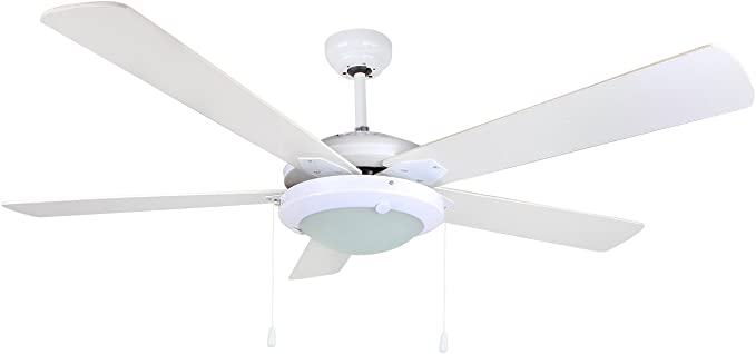 Orbegozo CP 82132 Ventilador de techo con luz, 5 palas, 132 cm de ...