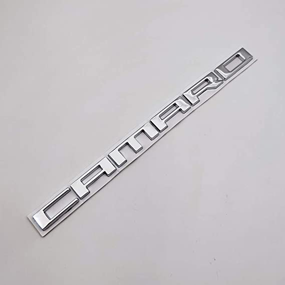 AxleZx Chrome Metal Camaro Logo Car Emblem Letters Badge Racing Sport Sticker Turbo Decal for Camaro Silver