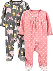 Simple Joys by Carter's Baby-Girls 2-Pack Fleece Footed Sleep and Play Baby and Toddler Slee
