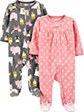 Simple Joys by Carter's Girls' 2-Pack Fleece Footed