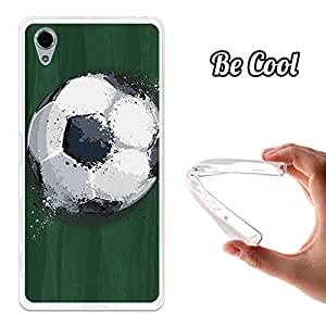 BeCool® - Funda Gel Flexible Sony Xperia X Balón de Fútbol Efecto Líquido Carcasa Case Silicona TPU Suave