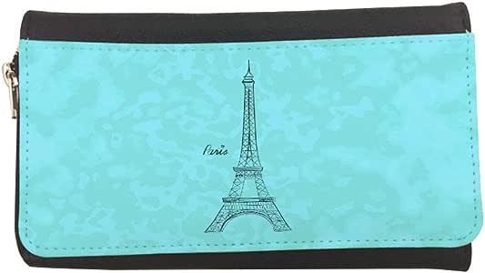 حافظة جلدية مطبوع عليها برج إيفل