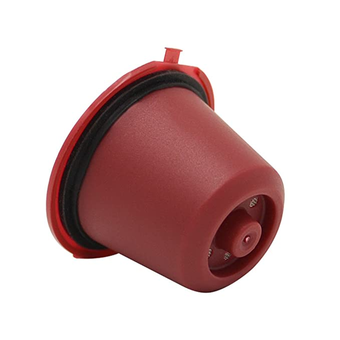Amazon.com: FORESTIME Refillable Reusable Coffee Capsules Pods for Nespresso Machines Filter Reusable Coffee Capsule Cup (red, a): Toys & Games