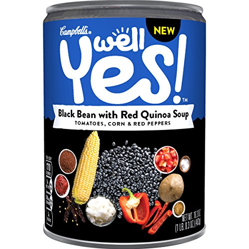 Well Yes! Soup, Black Bean with Red Quinoa, 16.3 Ounce (Packaging May Vary)