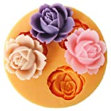JADE Onlines 1.8cm Cute Small Flowers Silicone Fondant Sugar Pudding DIY Cake Cookie Mini Craft Mold
