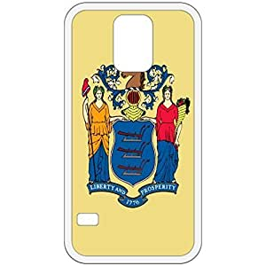 New Jersey NJ State Flag White Samsung Galaxy S5 Cell Phone Case - Cover