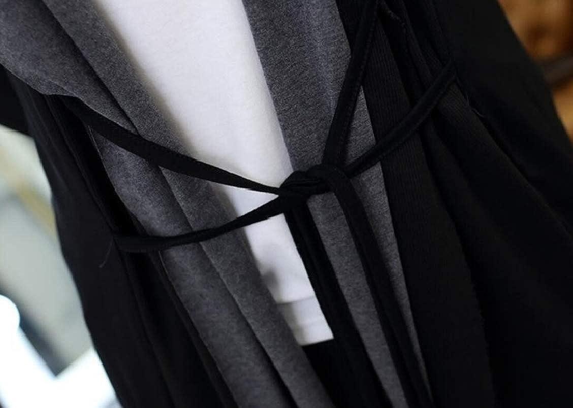 heymoney Men Casual Slim Fit Shawl Collar Open-Front Lightweight Long Cardigan