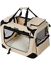 FEANDREA Hundebox, Transportbox für Auto, Hundetransportbox, Faltbare Katzenbox aus Oxford-Gewebe