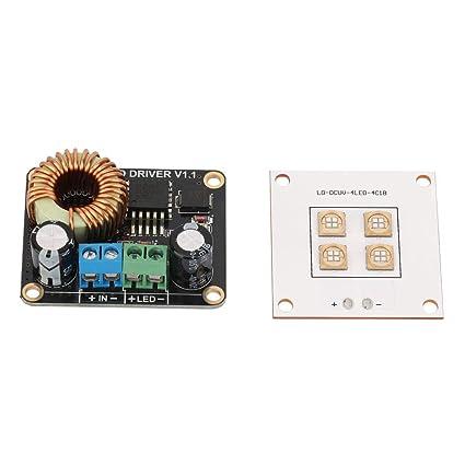 Keenso 3D Piezas Impresora DLP 40W UV LED Fuente de Luz y Placa de ...